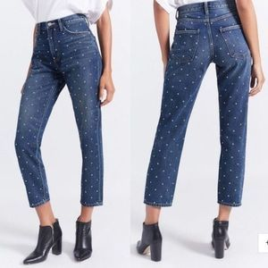 New CURRENT/ELLIOTT High Rise Cropped Jeans Sz 26